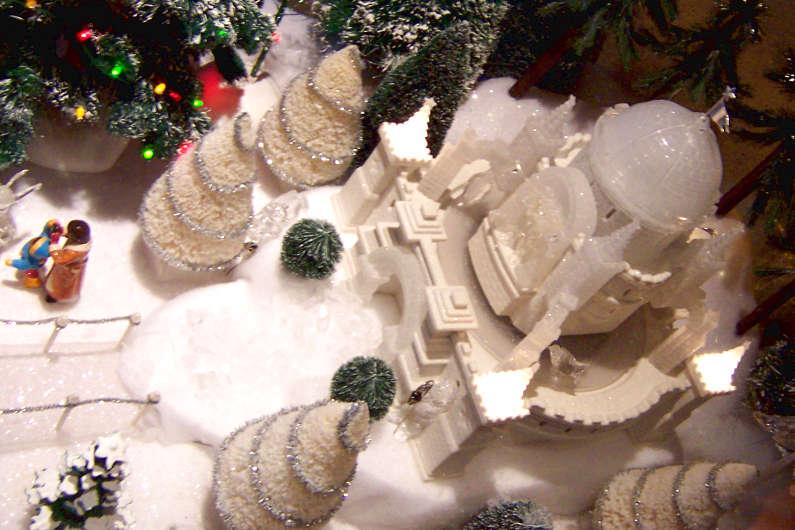 San Francisco Hotel Christmas Diorama