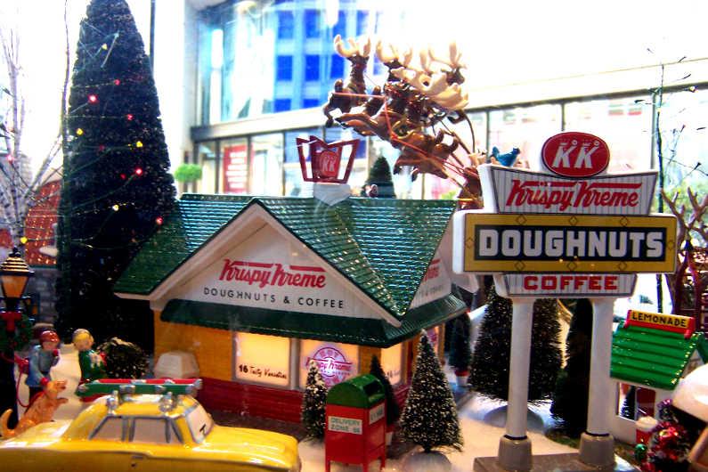 San Francisco krispy kreme christmas diorama