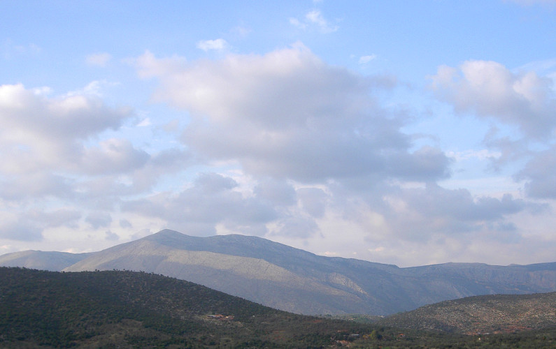 Cloudy Day in the Greek Countryside of Delphi