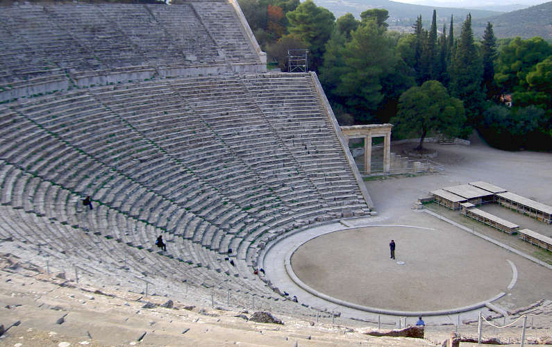 An Actor Reciting Shakespeare at a Greek Theatron in Delphi