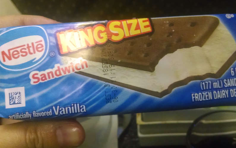 Singapore Airlines SIA Ice Cream Sandwich Dessert