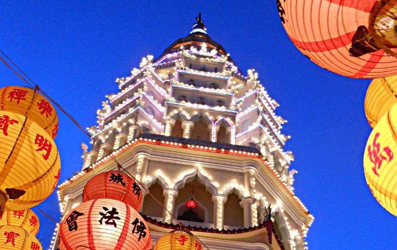 Chinese New Year Lights at Kek Lok Si Temple in Penang