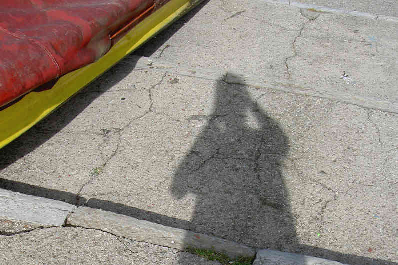 Me and my shadow at Lake Como