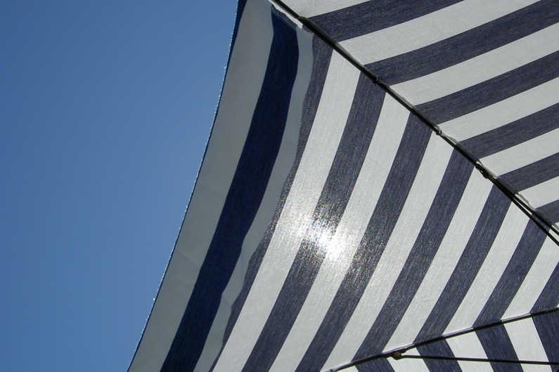 Lake Como umbrella shade from the sun