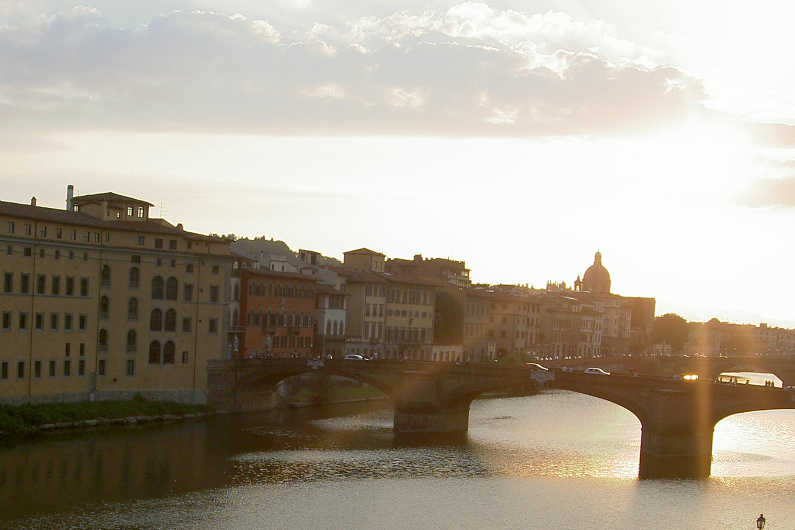 The Sun Over the Bridge in Florence