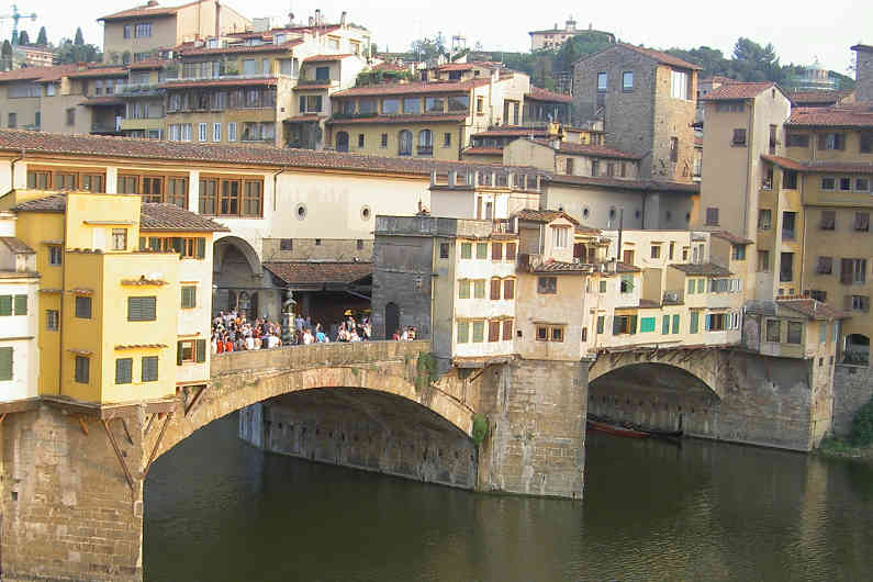 View of the Ponte Vecchio From Our Room in Florence