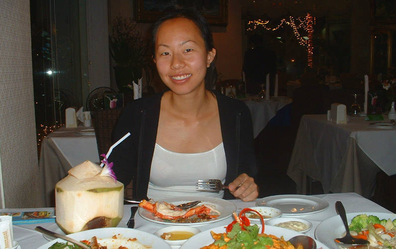 Nadia Eating Dinner