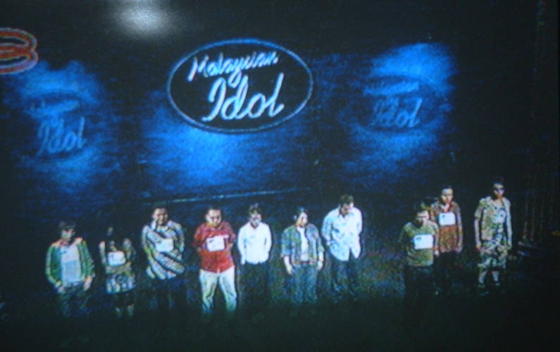 TV Screen Shot of Malaysia's Version of American Idol