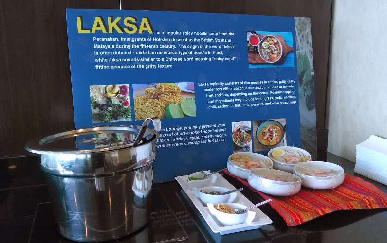 Info Kiosk on Coconut Milk Based Laksa at SFO