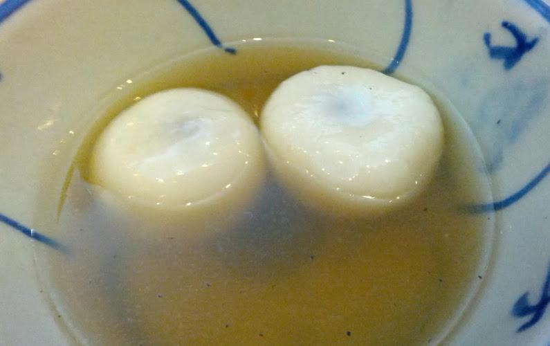 Sesame Balls in a Sweet Ginger Broth at Dessert Republic