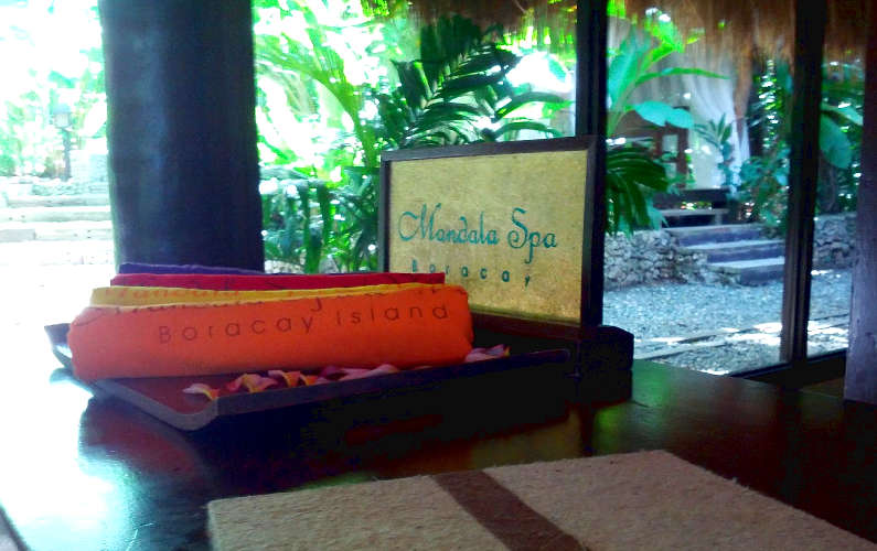 Boracay Mandala Spa Towels and Signage