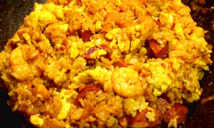Day After Crab Boil Fried Rice Recipe