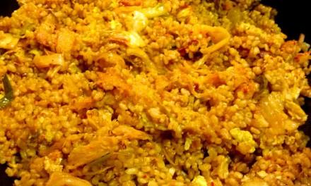 Garlic Bacon Kimchi Fried Rice Recipe