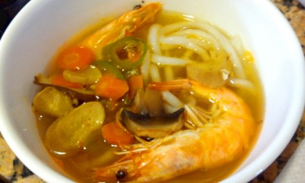 Simple Seafood Broth with Rice Noodles Recipe