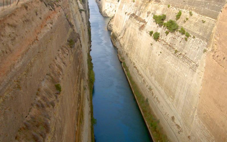 Bridge View of the Water Below on the Way to Delphi
