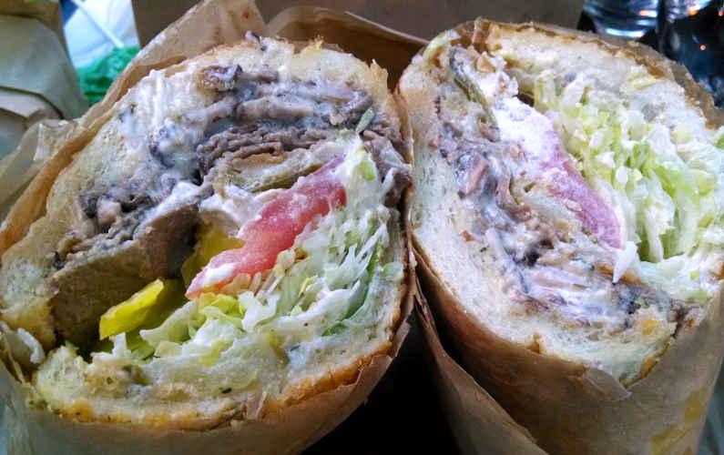 Cross Section of Ike's Sandwich