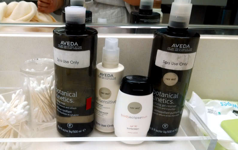 More Aveda Spa Products on the Counter at Immersion Spa