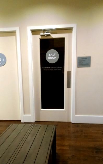 Salt Room Door Entrance at Immersion Spa