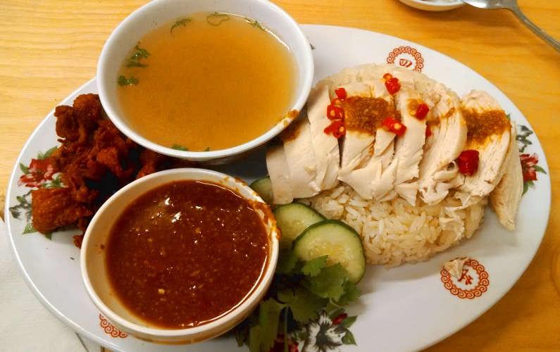 Nong's Khao Man Gai Chicken Rice Plate