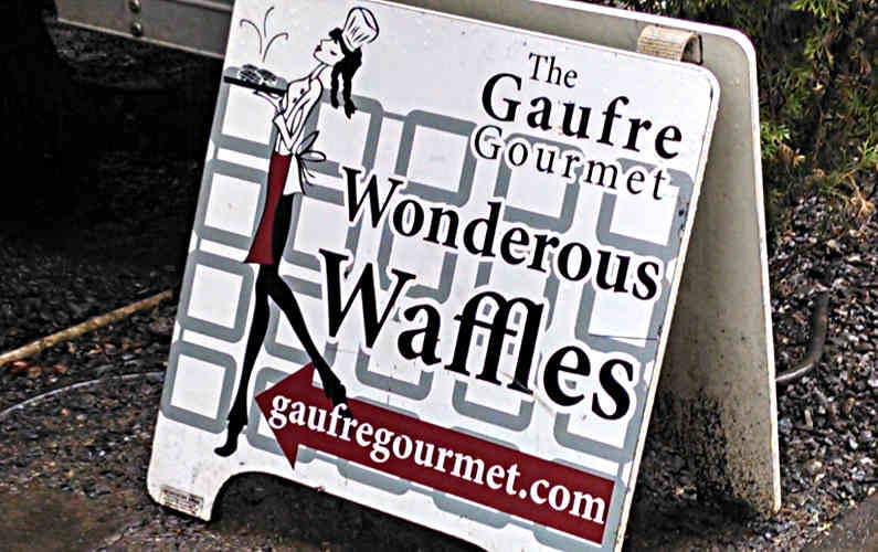 Portland The Gaufre Gourmet Signage