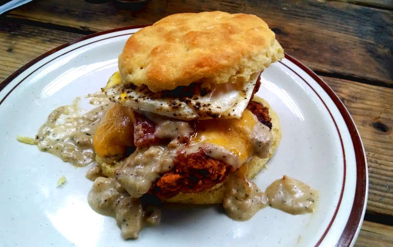 Pine State Biscuits Breakfast Biscuit with Gravy
