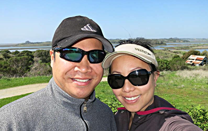Nadia and JM at Elkhorn Slough National Estuarine Research Reserve