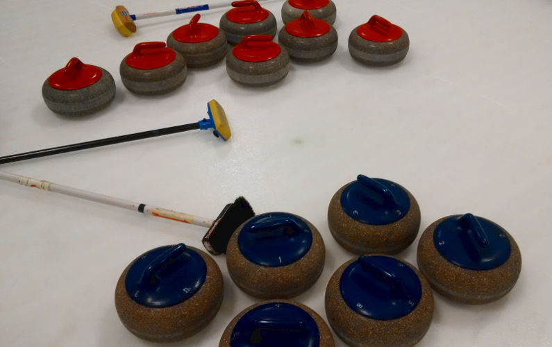 The Curling Equipment, Consisting of the Stone and Broom