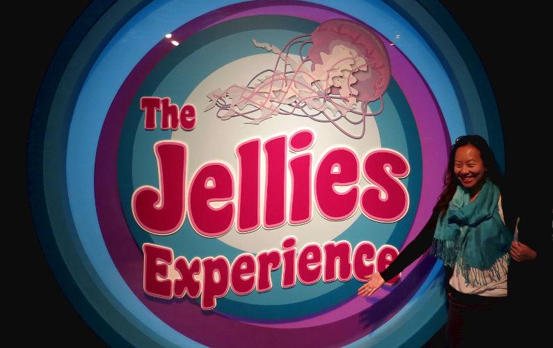 Nadia Posing at the Jellies Experience at Monterey Bay Aquarium