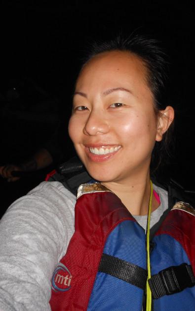 Nadia Looking Fabulous During Night Time Kayaking in Puerto Rico