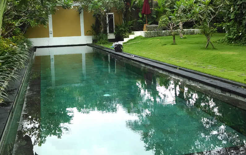 Our Pool at Villa Blubambu