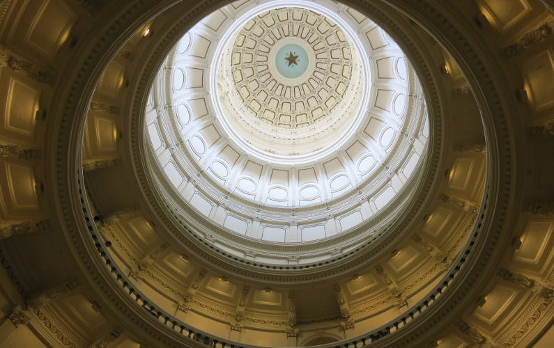 The Tiered and Hollowed Interior of the Dome on Top of the Texas Capitol