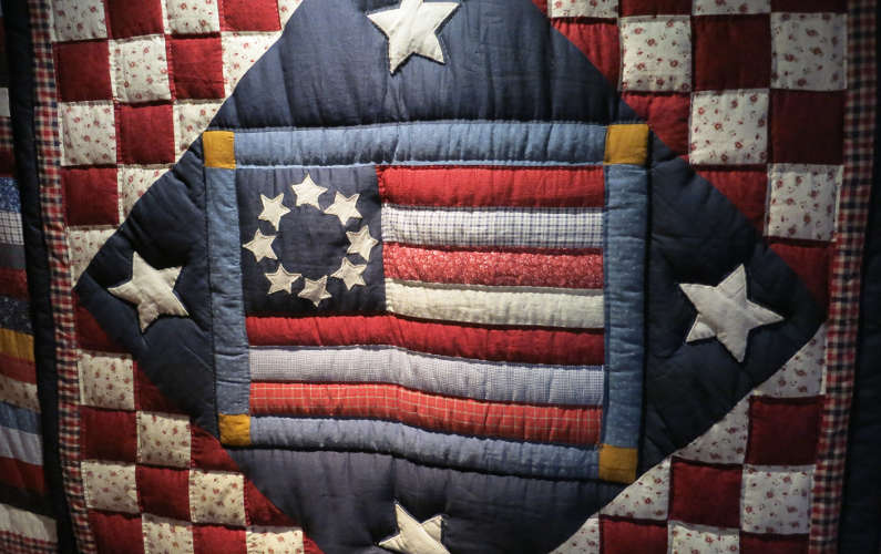 Quilted Flag on Display at the Texas Capitol