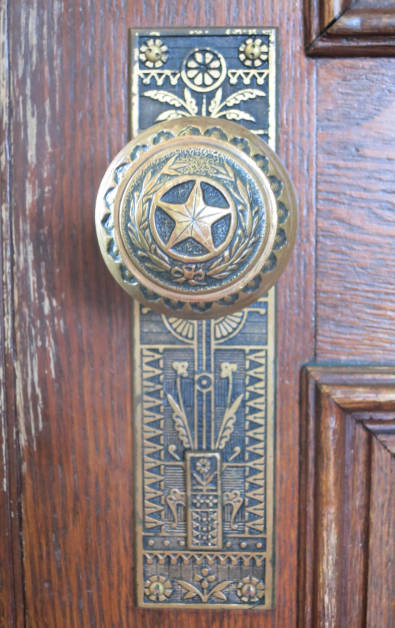 Highly Ornate Door Knob Decorated with the Star of Texas