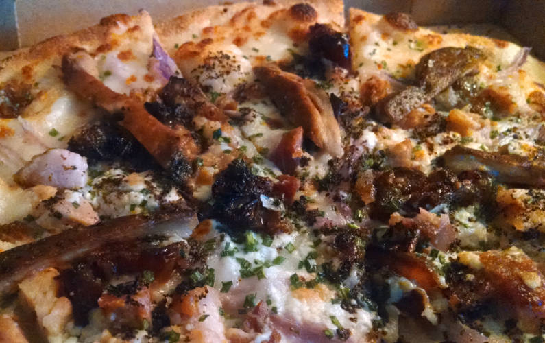Second Bar + Kitchen Black and Bleu Pizza