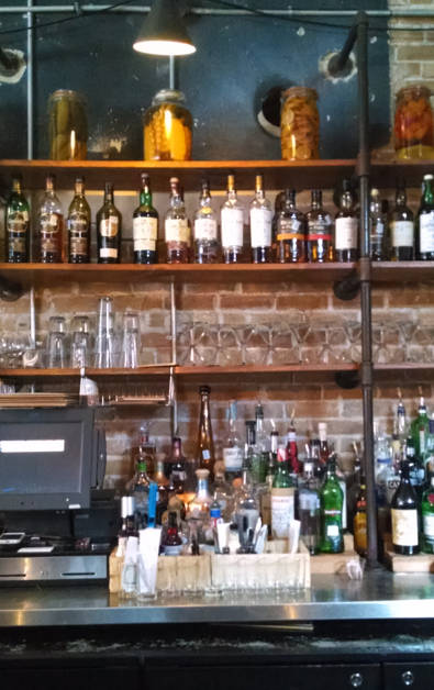 View of Parkside's Bar Counter