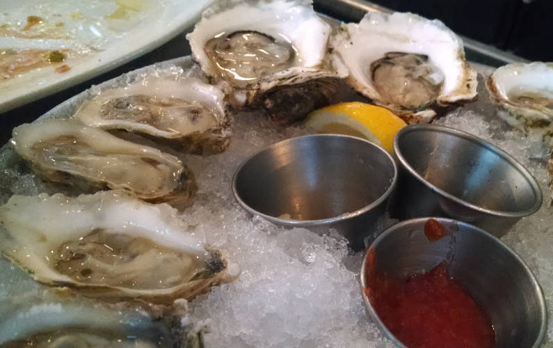 Parkside's Shucked Oysters on a Plate of Ice