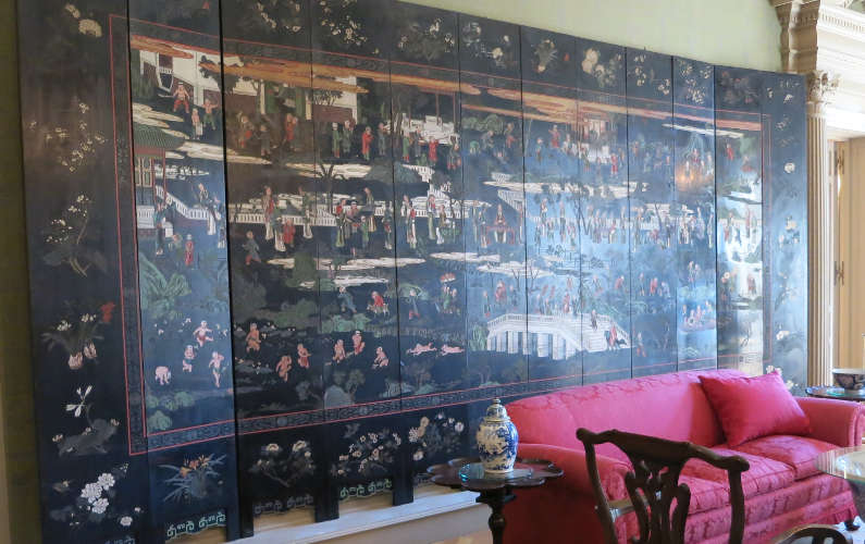 Chinese Wall Mural in the Living Room at Filoli