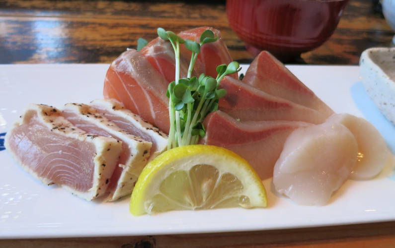 Close Up of Guu with Garlic Sashimi Lunch Special