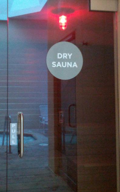 Dry Sauna Entrance at Palo Alto Immersion Spa