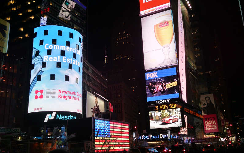 View of Times Square Near the Element