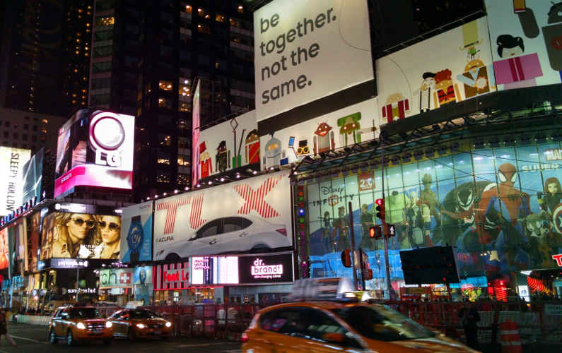 Another View of Times Square Near the Element