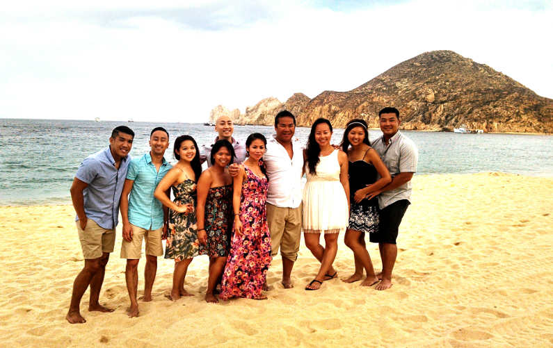 Nadia and JM with Friends in Cabo