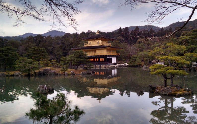 Kyoto Golden Pavilion On a Reflective Pond
