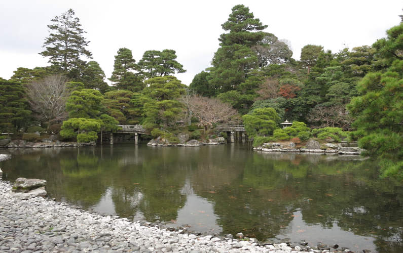 Pond at the Kyoto Imperial Palace
