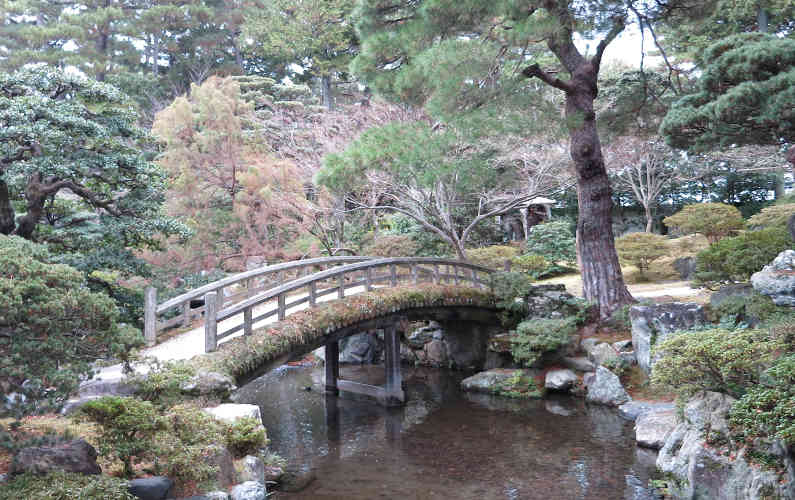 Foot Bridge Over the Pond at the Kyoto Imperial Palace