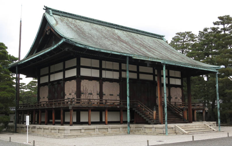 Copper Roofed Shunko-den at the Kyoto Imperial Palace