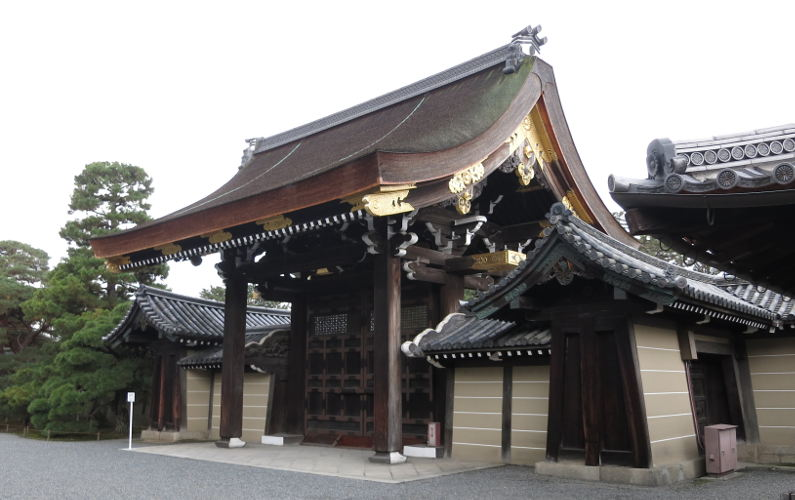 Close Up of Kenshunmon Gate at the Kyoto Imperial Palace