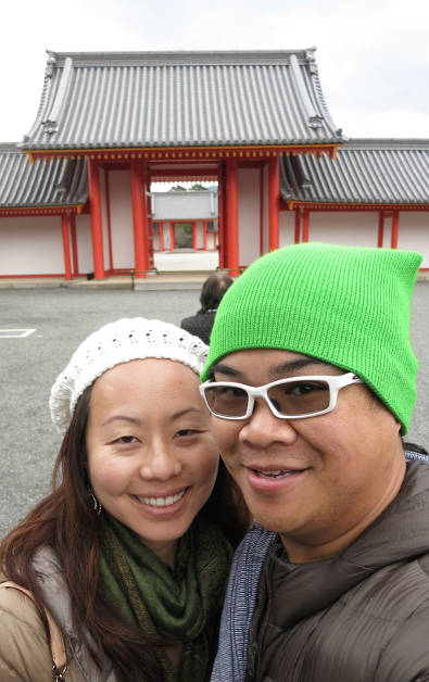 Nadia and JM at the Kyoto Imperial Palace Jomeimon Gate