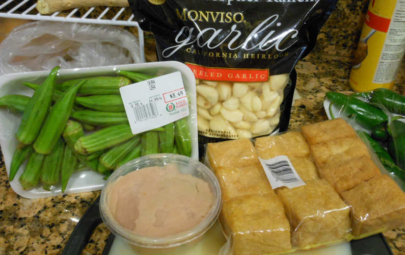 Raw Ingredients for Cooked Yong Tau Fu Recipe
