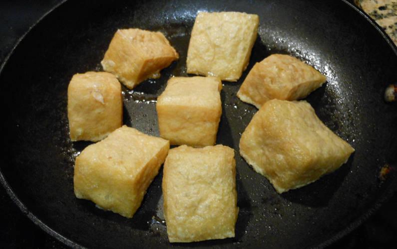 Yong Tau Fu Tofu Sauteed on a Pan Recipe